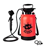 Muddy Buddy Portable Dog Shower with Brush 1.3 gal - Dog Washer, Also Great for Horses and for Cleaning Your car, Camping Equipment, Boots, Bikes and Much More.