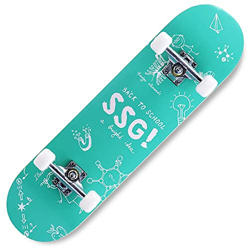 LITINGT Monopatín Completo Longboard de Arce, Apto para Adolescentes, Adultos, Principiantes, niñas, niños y niños en patineta.