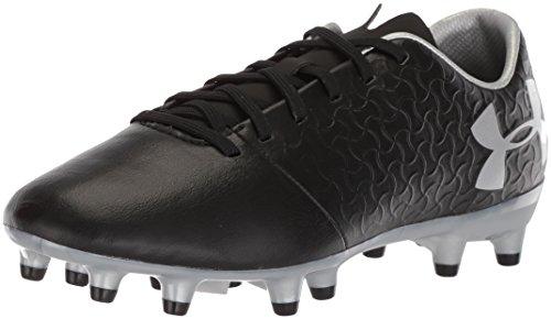 Under Armour Magnetico Select FG Jr, Botas de fútbol Unisex Adulto, Negro (Black//Metallic Silver (001) 001), 36.5 EU