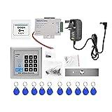 FOLOSAFENAR Kit de Cerradura de Puerta magnética eléctrica, Kit de Sistema de...