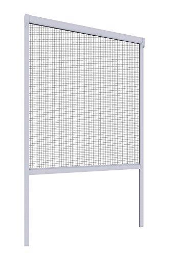 Mosquito Stop Insektenschutzrollo, Rollofenster Insektenschutz, Rollo-Fliegengitter für Fenster, individuell kürzbar, weiß, 130 x 160 cm, 23591, PVC