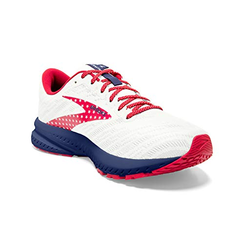 Brooks Launch 7 White/Blue/Red 10.5 D - Wide