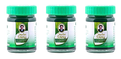 Wang Prom Green Herbal Balm 50g (Pack of 3)
