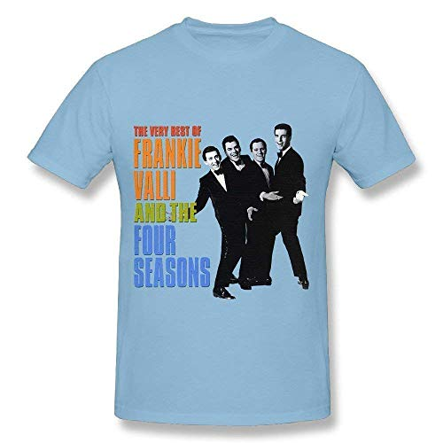 Ashirt Frankie Valli Das Fashion-T-Shirt der Four Seasons Tour 2018 f¨¹r Herren SkyblueXX-Large