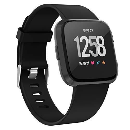 Lot de 2 Pour Fitbit Alta et Alta Heart Rate BANDS pour Hommes et Femmes Grand Noir 6.7-8.1 en