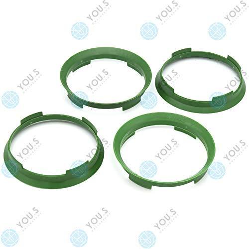 YOU.S ZENTRIERRING Grün für ALUFELGEN 70,4 x 67,1 mm (4 Stück) - A704671