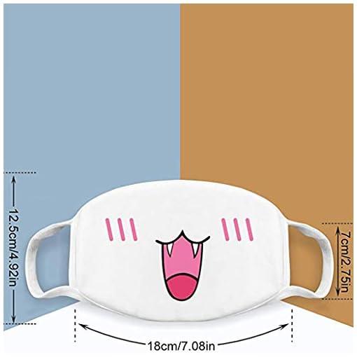 8 Stück Unisex Anime Mundschutz Maske mit Motiv (natürliche Baumwolle)