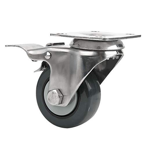SALUTUYA Mute Caster Brake Universal Wheel Swivels Caster Schlagfester Trolley Caster für Palettenräder