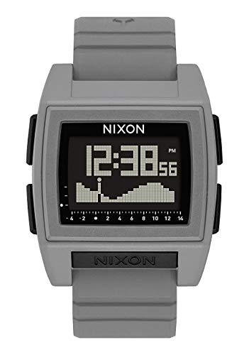 NIXON Base Tide Pro A1212 - Gray - 100m Water Resistant Men's Digital Surf Watch (42mm Watch Face, 24mm Pu/Rubber/Silicone Band)