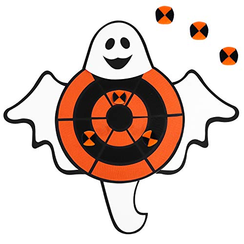 Aneco Halloween Ghost Dart Board Sticky Balls Toys Games Spliceable Dart Board Kit for Halloween Toy Games, 1 Dart Board and 6 Balls