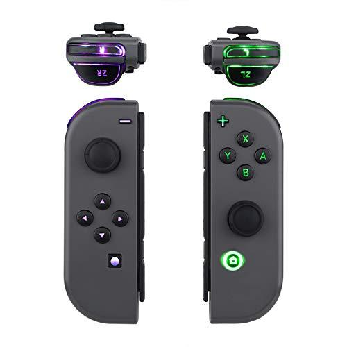eXtremeRate Tasten für NS Switch Joycon(Kein Controller),ABXY Knöpfe Tasten Trigger Button DFS LED Kit für Nintendo Switch Joy-Con-Klassische Symbole Leuchttaste(7 Farben 9 Modi, Tasten-Control)