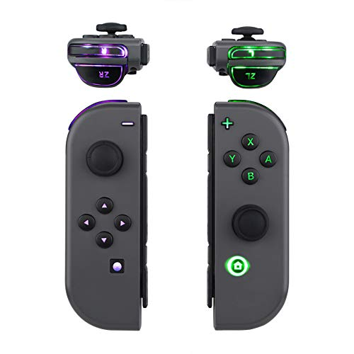 eXtremeRate Multi-Colors Luminated ABXY Trigger Face Buttons DFS LED Kit for Nintendo Switch Joy-Con Controller with Classical Symbols Buttons - 7 Colors 9 Modes Button Control - Joycon NOT Included