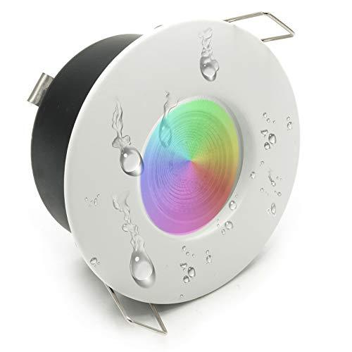 LED Duschkabine 6W Bad Turco Chrom Therapie IP65 GU10 Lampe RGBW 6000K Bianco