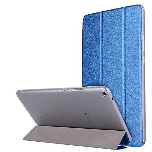 Caja de la Tableta para Huawei Mediéspad T3 8 Funda de Cuero de la Tapa de pie para el Honor Play Pad 2 8 0 Pulgadas KOB-L09 KOB-W09-Azul Oscuro