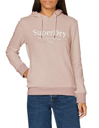 Superdry Damen Applique Serif Hood Kapuzenpullover, Violett (Violet Haze R2H), XS (Herstellergröße:8)