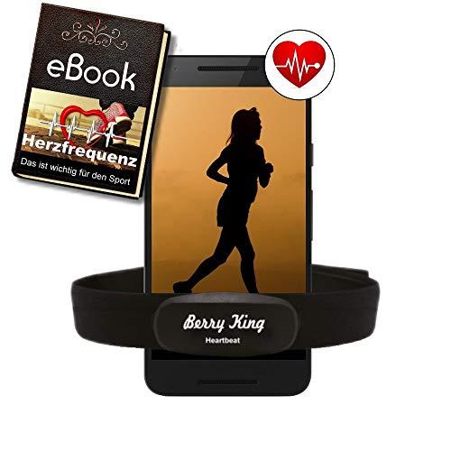 BerryKing Heartbeat 2 Bluetooth e ANT+ fascia toracica cardiofrequenzimetro Sensore HRM conduzione idoneità  ginnastica per runtastic, wahoo, strava e per attrezzature fitness Orologi Sportivi