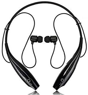 FLIPAUTHENTIC Neckband Bluetooth Headphones Wireless Sport Stereo Headsets Hands-Free with Microphone for All Smartphone (...