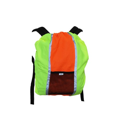 YOKO - Couverture pour sac à dos (Lot de 2) (Taille unique) (Jaune Hte Vis./Orange)