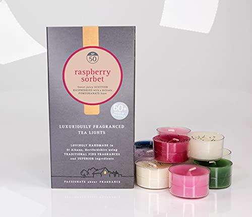 Potters Crouch Luxuriously Fragranced Tea Lights - Sorbete de frambuesa No.50