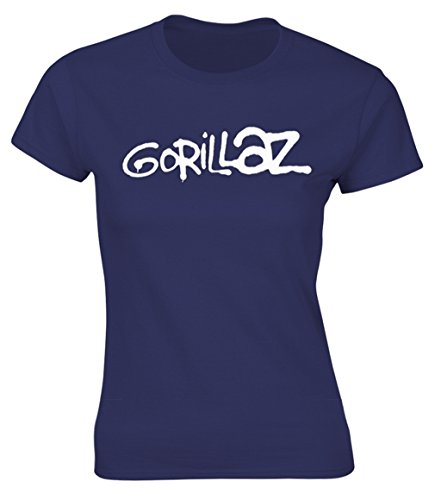 Gorillaz 'Logo' (Navy) Womens Fitted T-Shirt (Large)