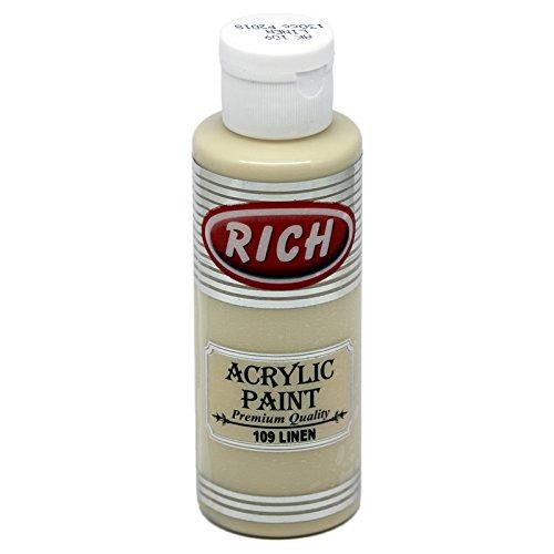 mytorten Pays Rich Opaque acrylique couleur Linen Décoration 130 ml