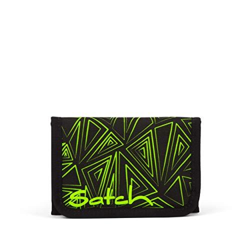 satch Geldbeutel - Münzfach, Geldscheinfach, Sichtfenster - Green Bermuda, Schwarz