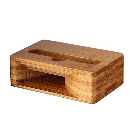 Soporte para teléfono Soporte para teléfono de madera de bambú Base para...