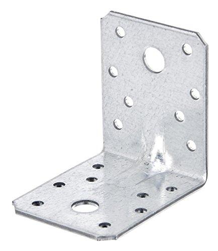 GAH-Alberts 334574 Schwerlast-Winkelverbinder mit Sicke | Handwerkerpack | sendzimirverzinkt | 70 x 70 x 55 mm | 50er Set