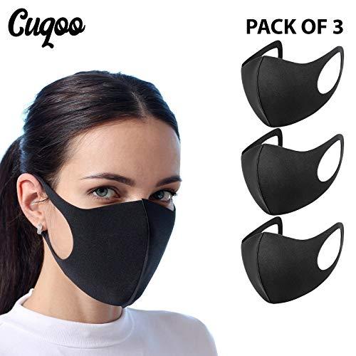 CUQOO - 3 máscaras Antipolvo para la Boca, Reutilizables, Lavables al Aire Libre, Unisex, anticontaminación