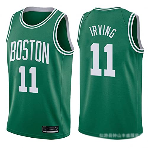 JFIOSD NBA Uomini Jersey,Celtics n#11 Irving Divisa da Basket T-Shirt,Donna Sport All'aperto Casual Manica Corta,C4,XXL
