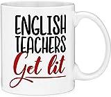 Jackgold Honey Coffee Mug 11oz- Teacher Gift English Teachers Get Lit Funny Quote Gift Coffee Mug (11oz)