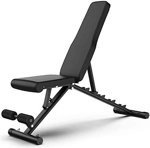 AMTB Hantelbank Klapp, Verstellbar Fitness Stuhl Sit-up Board Bauchmuskel Fitnessgeräte Lagergewicht 350 kg für Ganzkörpertraining