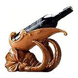 DAKEUR Estante de Vino Nordic Elephant Wine Bottle Estante de exhibición, Vitrina de Resina ecológica, Artesanía casera para la Sala de Estar Adornos Decorativos Muebles para Manualidades, 30x11x20