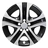MARROW New Wheel Covers Replacements Fits 2013-2018 Toyota RAV4, 17 Inch, 5 Spoke, Silver/Black, Plastic, Set of 4