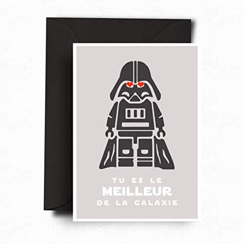 Carte Fête des Pères | Billet Star Wars Humour | En français