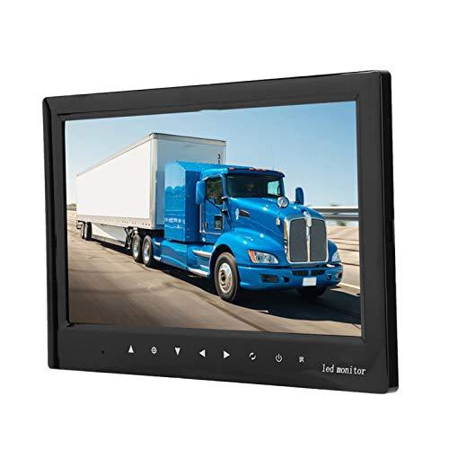 Monitor de vehículo negro con soporte de montaje ajustable con alta resolución de 800 * 480 7W, para minibús, autobús escolar, camión de tierra, camión de basura, cosechadora, etc.