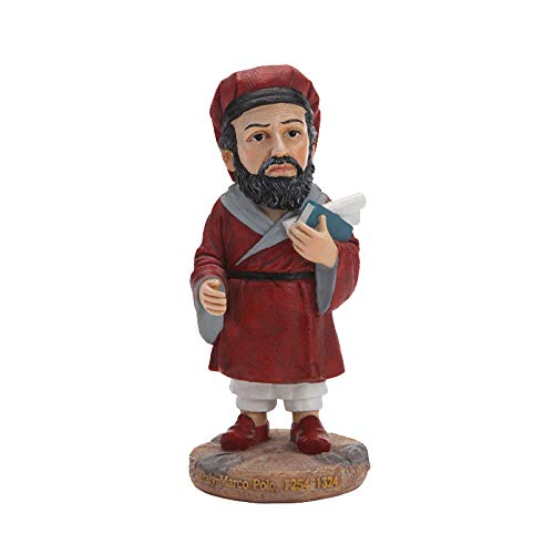 WWZYX Hand-painted Celebrity Marco Polo Ornaments Desktop Resin Creative Small Ornaments Home Decoration Gifts