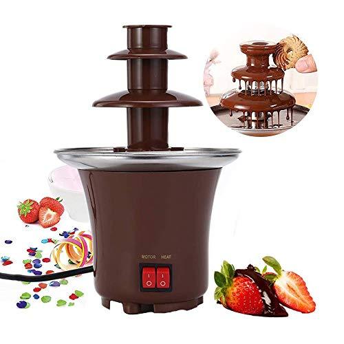 LKNJLL Fontaine de Chocolat Machine Electirc Chocolat à Fondue 3 Niveaux à Fondue en Acier Inoxydable Chaleur et Commandes Moteur for Wedding Party
