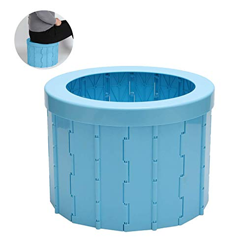 Yidali Outdoor Camping Klappbare tragbare Toilette mit 12 Reinigungstaschen, Kommode Toilettensitz für Lange Reisen Klappbarer Autotoilettenhocker Reisetöpfchen für Erwachsene Kinder