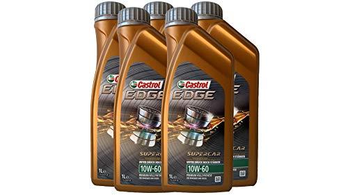 Castrol Edge Supercar 10W-60Olio Motore Lubrificante Confezione da 5 Litri