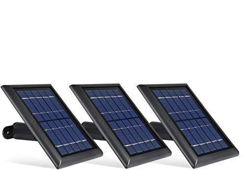 Wasserstein Solar Panel with Internal Battery Compatible with Blink Outdoor & Blink XT2/XT Camera (3-Pack, Black)