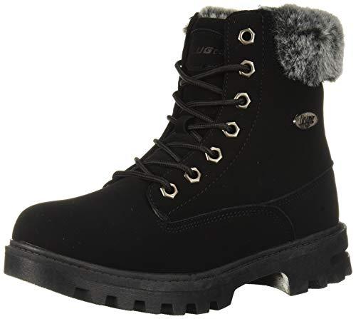 Lugz Unisex-Kid's Empire Hi Fur Fashion Boot, Black, 6.5 D US Big Kid