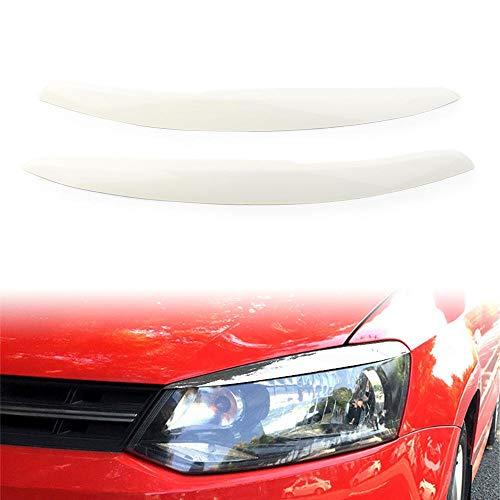 Three T Auto Scheinwerferblenden Scheinwerfer Augenbrauen Augenlider Blende Aufkleber Augenbrauenverkleidung Abdeckung Verkleidung Für Polo Mk5 6R 6C 2011 2012 2013 2014 2015 2016 2017