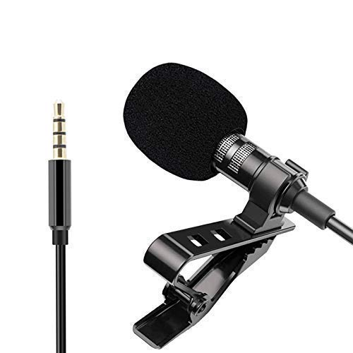 3.5mm Clip Microphone Collar Mic for YouTube and Recording with noice cancellationCollar Mike for Voice Recording, Collar Mic Mobile by Suckey®
