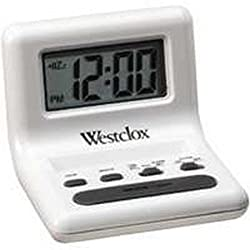 Westclox Travel Alarm Clock White 2 Aaa Batteries