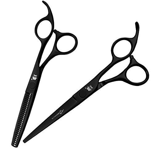 tijeras pelo Tijeras de corte de cabello, kit de tijeras de adelgazamiento del cabello, tijeras de peluquero profesional Ideal para salones, peluquerías y entusiastas del cabello - 6.0 ' tijeras peluq