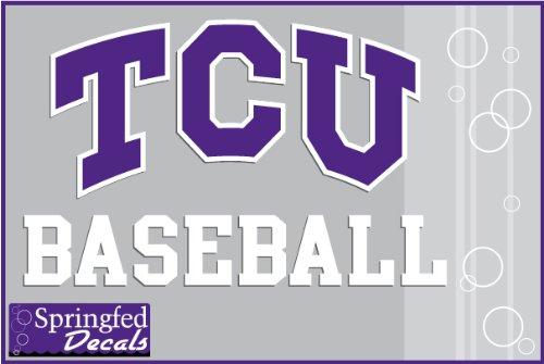 TCU Horned Frogs BASEBALL w/TCU LOGO Vinyl Decal Texas Christian Car Truck Sticker