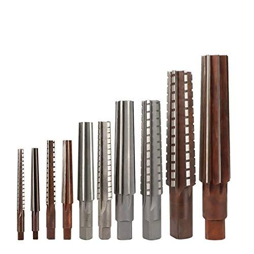 Shenyitool 2ST Morsekegel Reibahle Set MT0 / MT1 / MT2 / MK3 / MT4 Stahl Handreibahlen zum Fräsen Schlichtmeissel Werkzeug Werkzeug (Size : 2pc MT1)
