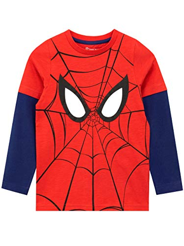 Marvel Camiseta de Manga Larga para niños Spiderman Rojo 10-11 Años