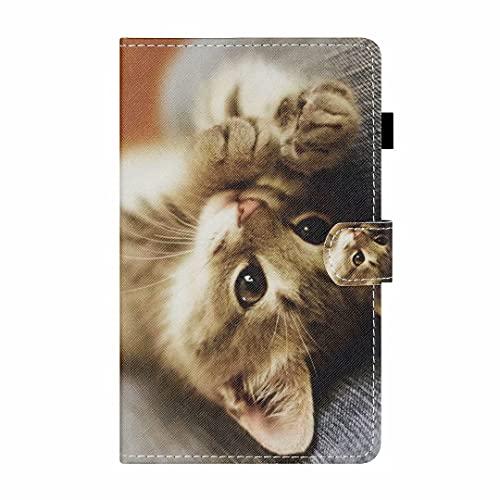 Funda para Samsung Galaxy Tab S5 (2019) SM-T720/T725 Tablet Case Case Funda de piel sintética a prueba de golpes con función de soporte de visualización multiángulo Folip Flip Funda protectora Cat